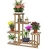 MalayasBlumenregal Blumen Rack aus Massivholz mit Mehr...