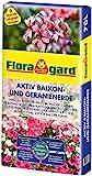 Floragard Aktiv Balkon und Geranienerde 70 Liter - mit 6...