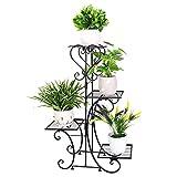 Wisfor Metall Pflanzenregal 4 Ebenen: Blumentreppe Retro...