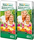 90 L (2x45L) FloraGreen Blumenerde Universalerde Pflanzerde...