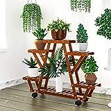 YEALEO Bambus Blumenregal Blumentreppe 6 Ebenen...